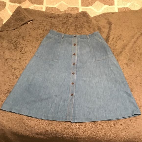 362081b07 Koret Skirts | Knee Length Denim Button Front Skirt | Poshmark